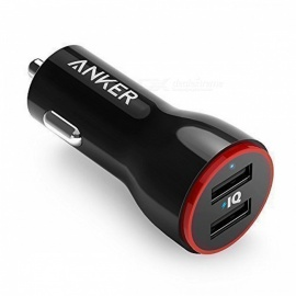 Anker A2310611 4.8A 24W Dual USB Car Charger w/ LED - Black