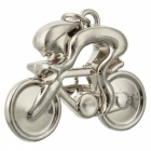 JEDX Bicycle Style Zinc Alloy Key Chain - Silver