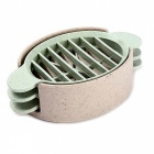 3-in-1 Wheat Stalk Make Egg Cutter - Nordic Beige + Nordic Green