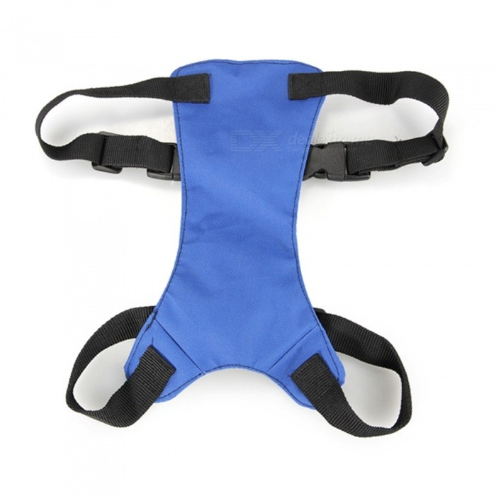 Adjustable Car Dog Pet Seat Safety Cotton Belt Harness - Blue (M)