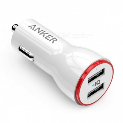 Anker 24W Dual USB Car Charger - White