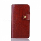Leather Case w/ Stand + PC case for IPHONE 7 Plus - Reddish Brown