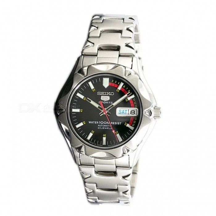 Seiko 5 Stainless Steel Sports Automatic Winding SNZ449J1 - Black+ Red