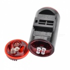 SUNDING SD-780 Outdoor Bicycle Safety Tail Night Light - Red + Black