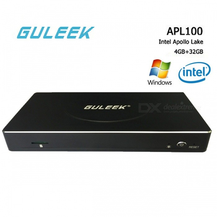 GULEEK APL100 Windows 10 Mini PC TV Box w / 4GB RAM 32GB ROM (EU Plug)