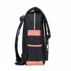T008-2 College Style Canvas Students' Backpack - Black