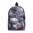 T006-2 Fashion Starry Sky Pattern Backpack- Black + White + Multicolor