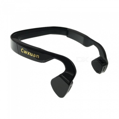Cwxuan BoneConduction Bluetooth v4.0 Stereo Neckband Headphone - Black