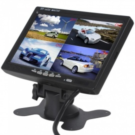 "12V-24V 7"" 4 Split Quad Video Display TFT LCD Car Bus Monitor"
