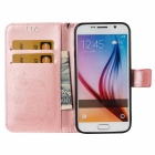 BLCR Elefant Muster PU Fall für Samsung Galaxy S6 - Rose Gold