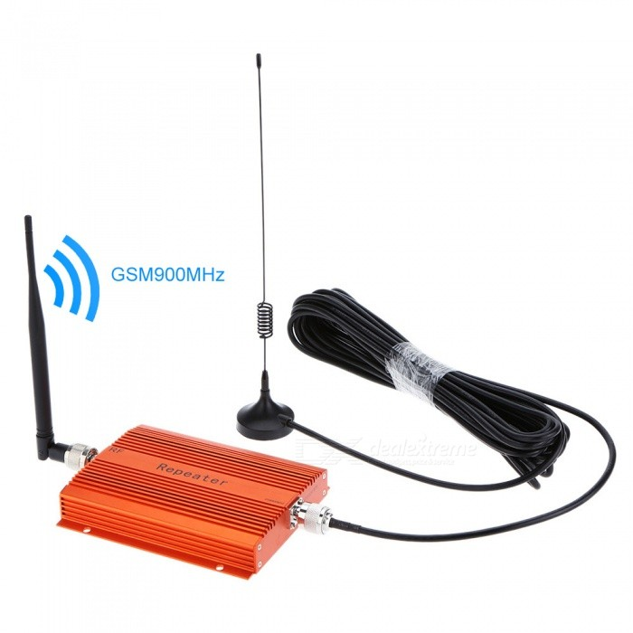 GSM900MHz Phone Signal Repeater w/ Indoor + Outdoor Antenna (US Plugs)