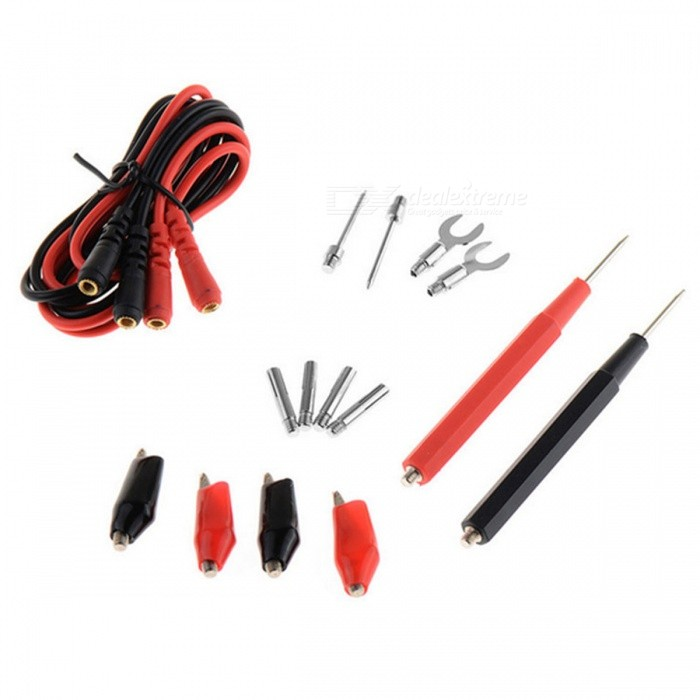 Multifunction Digital Multimeter Probe Test Lead Cable Alligator Clips