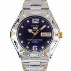 Seiko 5 Sports Men's Stainless Steel Automatic SNZ458J1- Blue + Golden