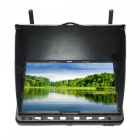 "5.8G 40CH 7""Aerial HD LCD Receiver FPV Screen Monitor w/ Dual Antennas for RC Quadcopter - Black"