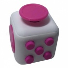 6-Sided Cube Dice Finger Toy - White + Deep Pink