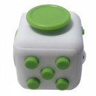 6-Sided Cube Dice Finger Toy - White + Green