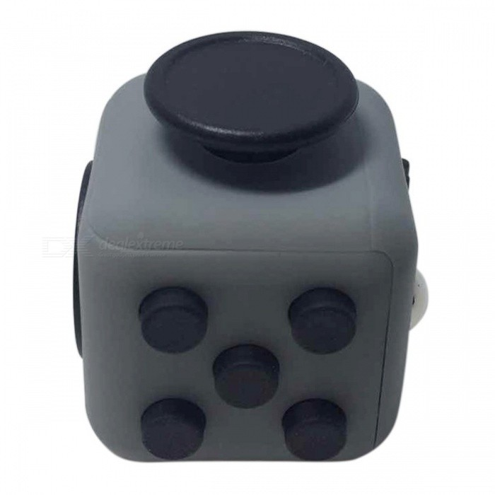 6-Sided Cube Dice Finger Toy - Grey + BlackFinger Toys<br>Form  ColorGrey + BlackMaterialABSQuantity1 DX.PCM.Model.AttributeModel.UnitSuitable Age 6-9 months,9-12 months,13-24 months,8-11 years,12-15 yearsOther FeaturesStyle: 11 styles (Optional)Packing List1 x Fidget cube<br>