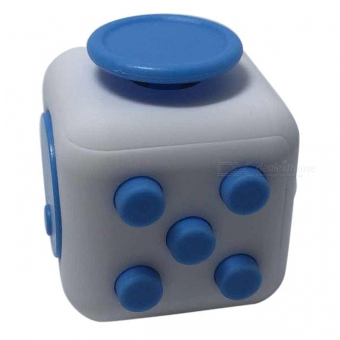 6-Sided Cube Dice Finger Toy - White + BlueFinger Toys<br>Form  ColorWhite + BlueMaterialABSQuantity1 DX.PCM.Model.AttributeModel.UnitSuitable Age 6-9 months,9-12 months,13-24 months,8-11 years,12-15 yearsOther FeaturesStyle: 11 styles (Optional)Packing List1 x Fidget cube<br>