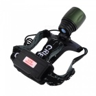 Aluminum Alloy Rechargeable Headlamp for Outdoor Activities, Cold White Light (2 x 18650 Batteries)
