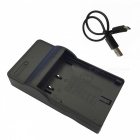 Micro USB Mobile Camera Battery Charger for Panasonic BLF19 Battery - Black