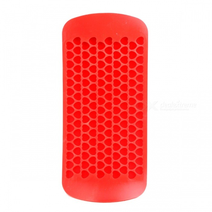 150 Lattice Silicone Mini tvaru srdce Ice Mříž Mold - Red