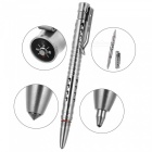 FURA Hollow-Out Stainless Steel Ball-Point Pen w/ Compass - Silver
