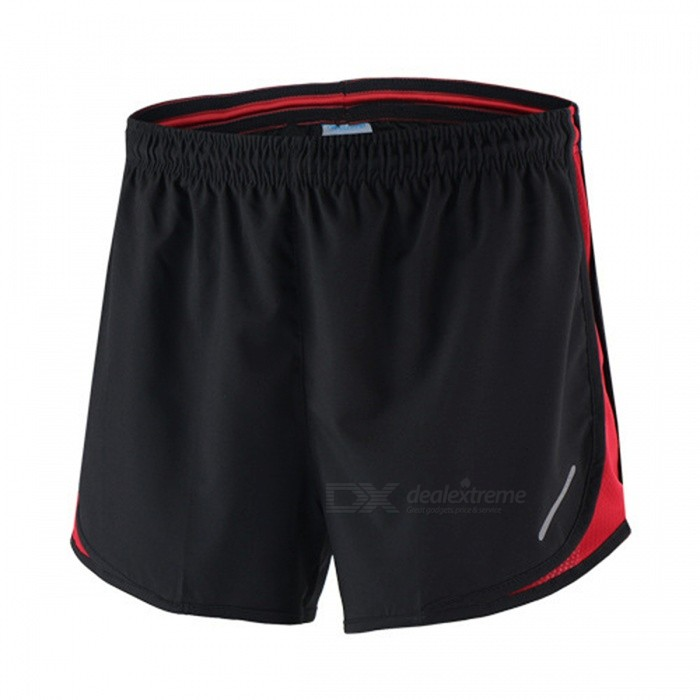 ARSUXEO Sport Marathon Running Men's Casual Pants Shorts - Red (M)