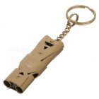 FURA Outdoor Survival Dual-Channel Edelstahl Pfeife - Golden