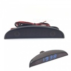 Eastor 12V Car 3 In 1 Car Clock Thermometer / Voltage Meter Blue Light