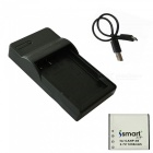 Ismartdigi CNP40 1230mAh 3.7V Battery + Micro USB Charger for Casio