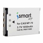 Ismartdigi CNP70 1050mAh 3.7V Battery + Micro USB Charger- White+Black