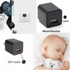 1080P HD USB Wall Charger Mini Camera w/ 8GB Internal Memory