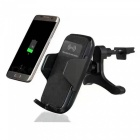 360° Rotation Wireless Car Charger + Air Vent Mount Holder - Black