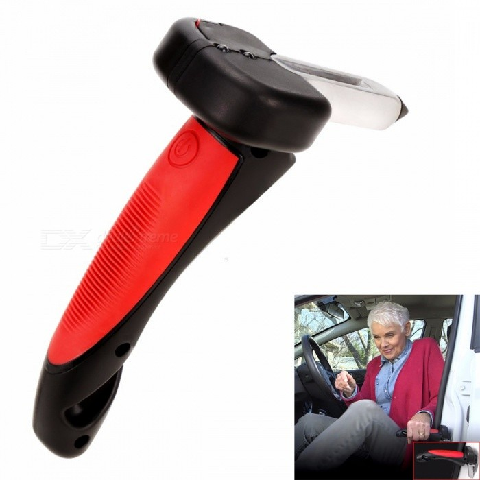 KICCY Useful and Portable LED Flashlight Car Handle - Red + Black
