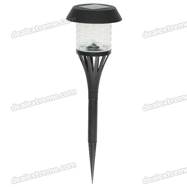 Solar Powered Self-Recharged LED White Light Lawn Lamp (1*AA)