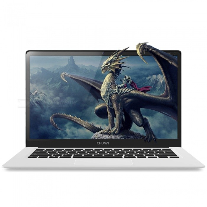 CHUWI LapBook 14.1 Quad-core Notebook w/ 4GB RAM + 64GB ROM - WhiteNetbooks and Laptops<br>Form  ColorWhite (EU)Quantity1 pieceShade Of ColorWhiteMaterialABSProcessor BrandIntelProcessor ModelOthers,Intel Apollo lake N3450Number of CoresQuad CoreProcessor Speed1.1 (up to 2.2) GHzGPUIntel HD graphics 500Built-in Memory / RAM4GBCapacity / ROM64GBScreen SizeOthers,14.1 inchesResolution1920 x 1080Screen TypeIPSTouchpadNoWi-Fi StandardOthers,802.11b/g/n 2.4Ghz/5Ghz(3165D2WG)Compatible ModelExternal 3G with USB dongle (not included)Bluetooth VersionBluetooth V4.0USBUSB 2.0,USB 3.0Storage InterfaceTFExternal Memory Max. SupportOthers,128 GBMicrophoneYesSpeaker2CameraYesFront Camera Pixels2.0 MPPicture FormatsJPEG,BMP,PNG,GIF,TIFFBattery Capacity9000 mAhOperating SystemOthers,Windows 10Supported LanguagesEnglish,French,German,Italian,Spanish,Portuguese,Russian,DutchBattery TypeLi-polymer batteryPacking List1 x LapBook 14.11 x Power adapter1 x Charge cable1 x Manual<br>