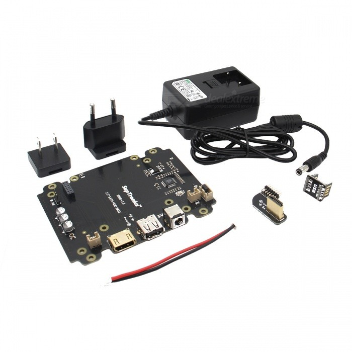 5V 4A Power Adapter + X800 SATA HDD/SSD Storage Expansion Board Kit