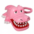 AR-5065 Creative Cartoon Crocodile Shaped Wired Telephone - Pink