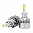 MZ H3 72W 7200lm COB LED Car Conversion Headlight Bulbs Fog DRL(Pair)