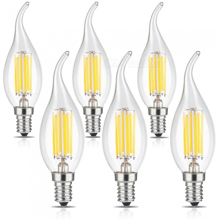 KWB LED Filament Bougie Ampoules C35 6W E14 Blanc Chaud (6 PCS)