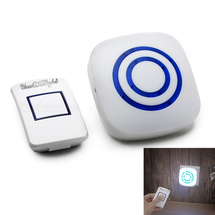 YouOKLight EU Plug Dimmable LED Remote Control Night Light Cold White