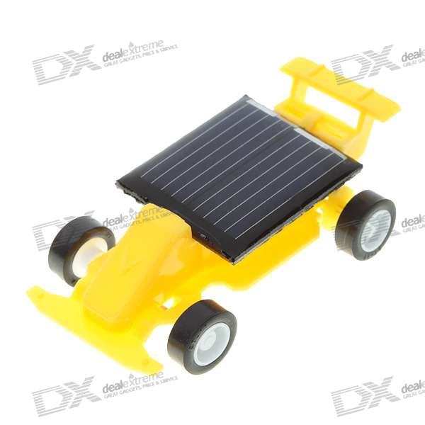 Mini Assembled Solar Powered Car (Yellow)