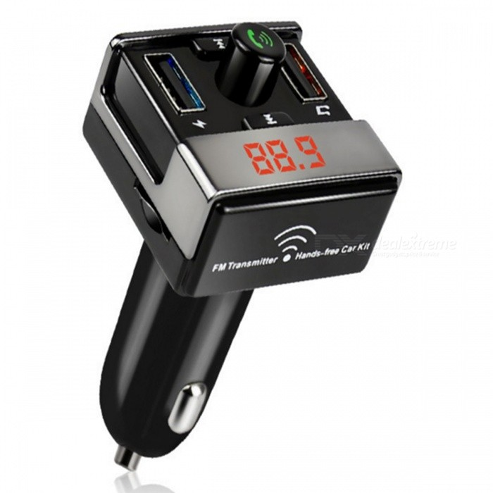 KELIMA Chargeur voiture allume-cigare Bluetooth USB double