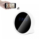 1080P 2.0MP CMOS Wi-Fi Mini Alarm Clock DVR Hidden Camera