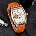 MCE Fully Automatic Mechanical Tourbillon Men's Watch - White + Brown