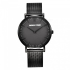 MCE 07-002 Ultra-thin Ladies Fashion Quartz Analog Wrist Watch - Black