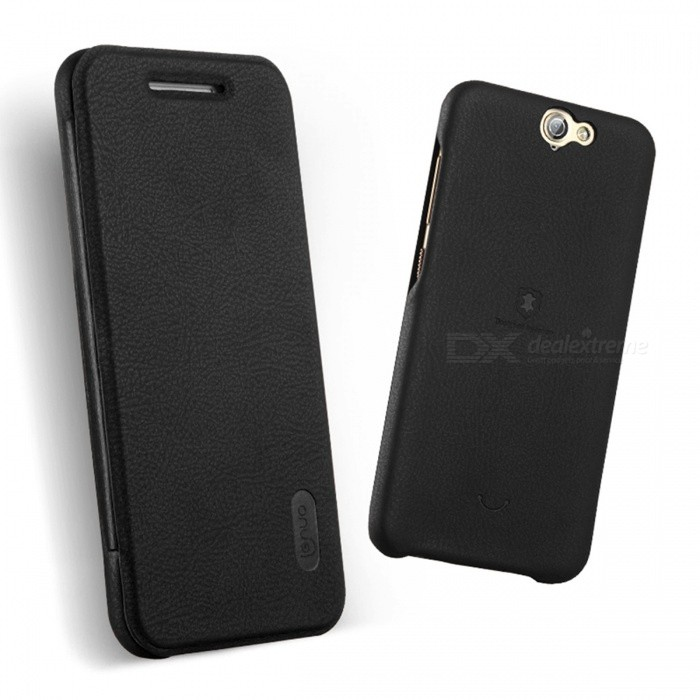 Lenuo ledream Series Leather Cover Case for HTC A9 Case - Black