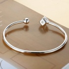 SILVERAGE Sterling Silver Dice Adjustable Cuff Bracelet - Silver
