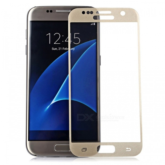 Dazzle Colour Tempered Glass Screen Film for Samsung S7 - GoldenScreen Protectors<br>Form ColorGold (1Pcs)Screen TypeGlossyModelN/AMaterialTempered glassQuantity1 pieceCompatible ModelsSamsung Galaxy S7Features2.5D,Fingerprint-proof,Anti-glare,Scratch-proof,Tempered glassPacking List1 x Tempered glass film1 x Wet wipe1 x Dry wipe1 x Dust sticker<br>