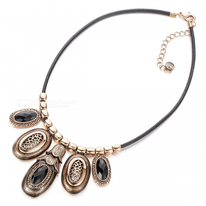 SILVERAGE Infinite Charming Jewelry Necklace - Bronze + Silver